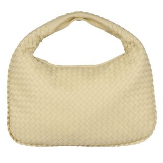 Bottega Veneta Pale Yellow Intrecciato Woven Leather Hobo Bag