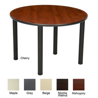 36 inch Round Table with Black Post Legs