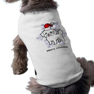 Christmas Maltese (puppy cut) pet clothing by SugarVsSpice