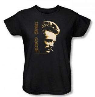 James Dean     Rauch Damen T Shirt in Schwarz Bekleidung