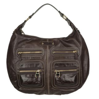 Hogan Brown Leather Hobo Bag