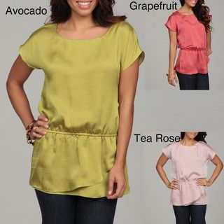 Violet & Claire Womens Tiered hem Blouse