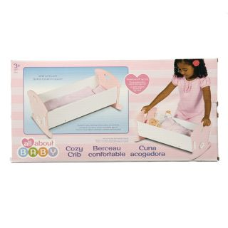All About Baby Cozy Crib Doll Crib