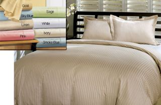 Damask 600 Thread Count Queen Sage Duvet Cover Set (Open Box