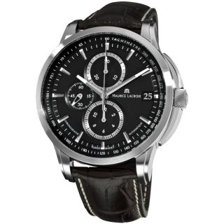 Maurice Lacroix Mens Pontos Black Chronograph Dial Watch