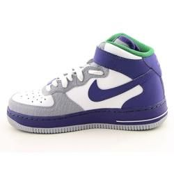 Nike Mid Youth Kids Boys Purple Air Force 1 Basketball Shoes (Size 3.5