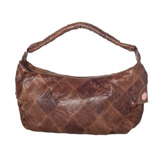 David & Scotti Winter Medium Patchwork Leather Hobo Bag