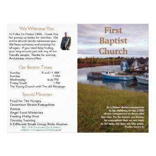 Church Bulletin (Inside Blank) Letterhead Template