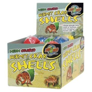 Zoo Med Hermit Crab Neon Shells   Reptile Supplies