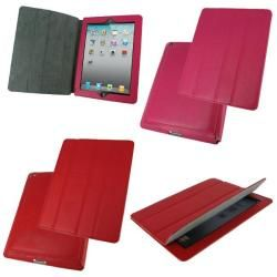 rooCASE 3 in 1 Smart Case Leather Cover Bundle for iPad 2