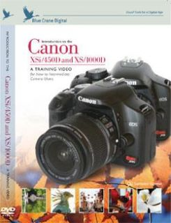 Canon EOS Digital Rebel XSi & 450D DVD by Blue Crane Digital SLR