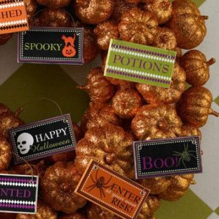 in. Halloween Graphic Ornaments Set of 12   Ornaments