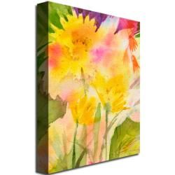 Sheila Golden Springtime Floral Canvas Art