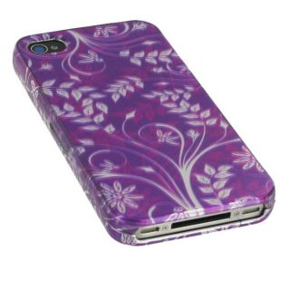 Apple iPhone 4 Purple Flower Case