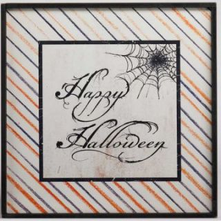 Interiors 16 in. Happy Halloween Square Sign