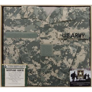 Army Keepsake Post Bound Album 12X12in ACU Camo