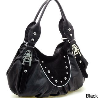 Dasein Studded Faux Leather Hobo Bag