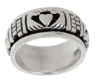 Sterling Silver Claddagh Spinner Ring