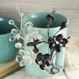Prima Flowers Crystal Palace Black Ice Moldable Wire Stems