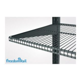 freedomRail 16L x 30W in. Ventilated Shelf   Granite   Garage Wall
