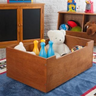 Classic Playtime Pecan Rolling Toy Storage   Kids Furniture at