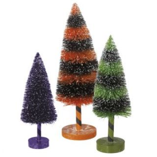Midwest CBK Bewitch Halloween Bottle Brush Tree   Set of 3 at