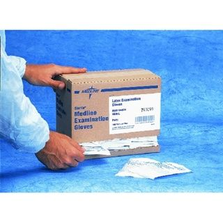 Medline SensiCare PF Stretch Vinyl Sterile Exam Gloves, X Large (Case