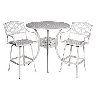 Fly Sandstone Cast Aluminum 3 piece Patio Table Set
