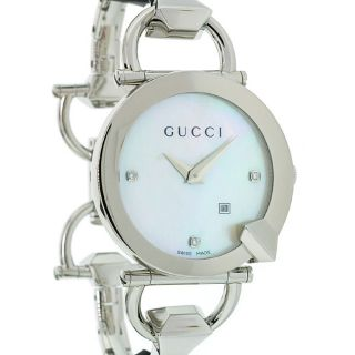 Gucci Womens Chiodo Stainless Steel Link Bracelet Watch