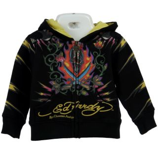 Ed Hardy Infant Boys Skull and Tiger Hoodie
