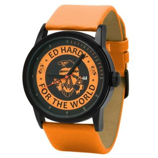 Ed Hardy Unisex Punk Orange Watch