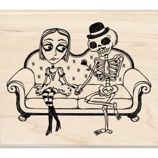 Inkadinkado Halloween Date Night Mounted Rubber Stamp