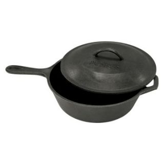 Bayou Classics Cast Iron Covered Skillet   3 qt.   Cast Iron Cookware