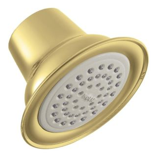 Moen Polished Brass One Function Easy Clean Xlt Showerhead