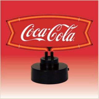 Coca Cola Red & White Fishtail Neon Sculpture