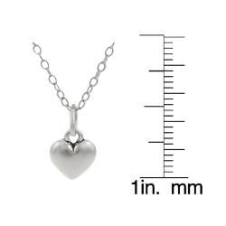 Tressa Sterling Silver Childrens Heart Necklace