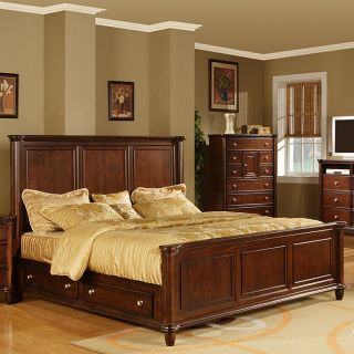 Hawthorne Queen Bed with 4 drawers