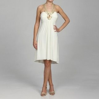 Richards Womens Beaded Necklace Dress