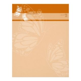 Butterfly on Burnt Orange Elegant Modern Simple Business Card Template