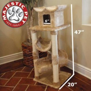 Majestic Pet 47 in. Casita Fur Cat Tree   Cat Trees