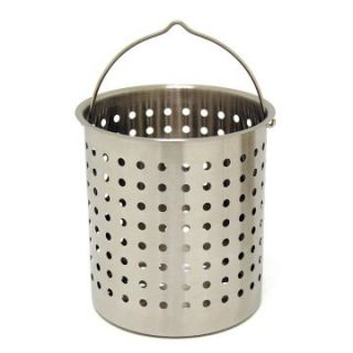 Bayou Classic Stainless Steel Perforated Baskets   Stockpots & Fryer