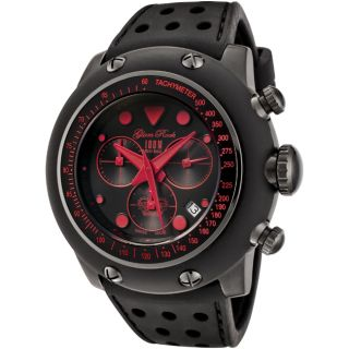 Glam Rock Race Track Black Silicon Watch