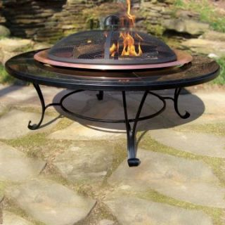 Granite Fire Pit Table   Wood Burning Fire Pits
