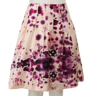 FINAL SALE Calvin Klein Womens Pleated Pink Floral Skirt