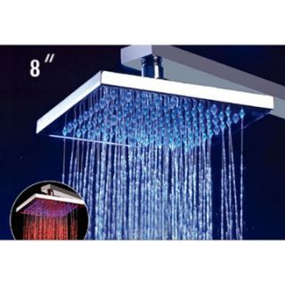 ALFI 8 Inch Square Multi Color LED Rain Shower Head   Shower Faucets