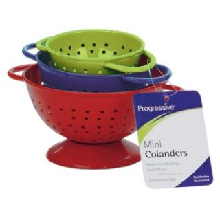 Progressive Housewares CLM 4 3 Count Red   Blue & Green Mini Colanders
