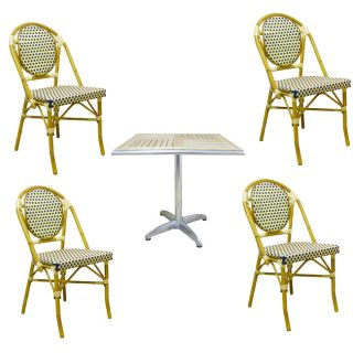 Warehouse of Tiffany Indoor/Outdoor Blue Rattan 8 Piece Dining Set