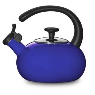 Stainless Steel 1.5 qt. Whistling Tea Kettle   Blue   Whistling Tea