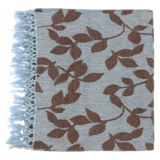 Surya Timora Sky Blue/Brown Throw   50 x 70 in.