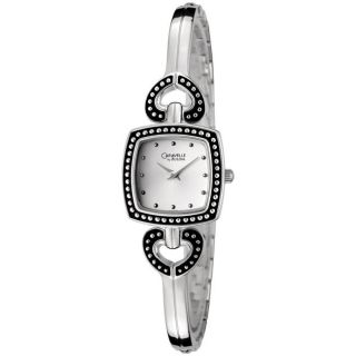 Caravelle by Bulova Womens Silvertone Bangle Watch